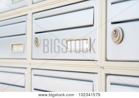 Metal letter boxes