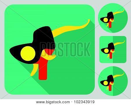 Brake hoods icon. Bike parts. Flat long shadow design. Bicycle icons series.