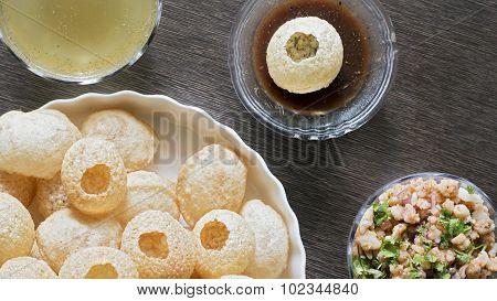 Pani Puri, Golgappe, Chat Item, India