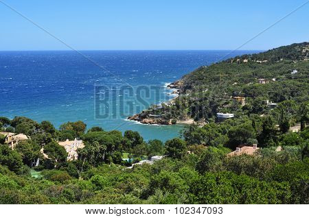 a view of the Mediterranean sea and the coast of Begur, in the Costa Brava, Catalonia, Spain