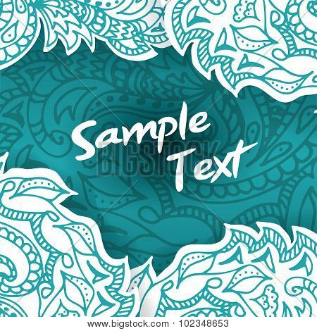 Abstract Invitation Card. Vector Template Poster With Doodles For Your Design.