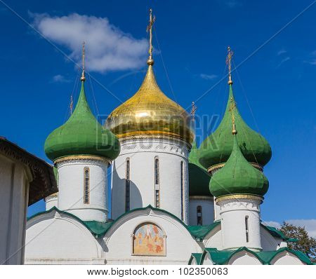 Saviour-Transfiguration Cathedral in Saviour-Euvfimiev Monastery in Suzdal. Suzdal, Vladimir region, Golden Ring of Russia