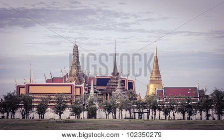 Wat Phra Kaew.temple Of The Emerald Buddha In Bangkok, Thailand