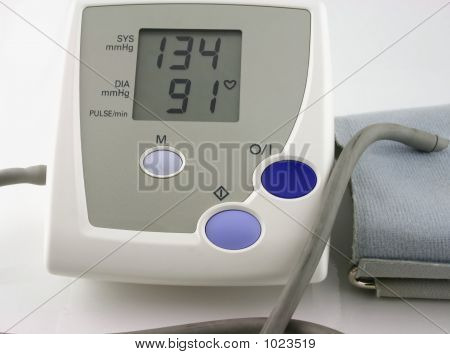 Blood Pressure Monitor With Arm Pump