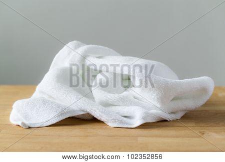 Crumpled towel