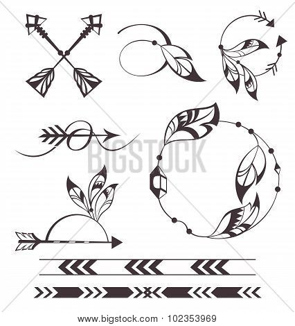 Feather and arrows