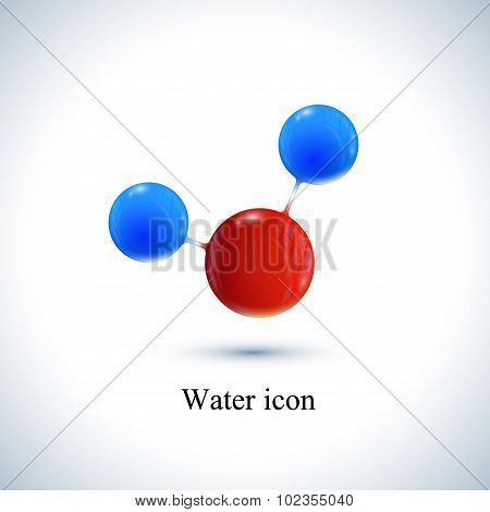 Vector template water icon . Molecule for medicine, science, technology , chemistry, biotechnology