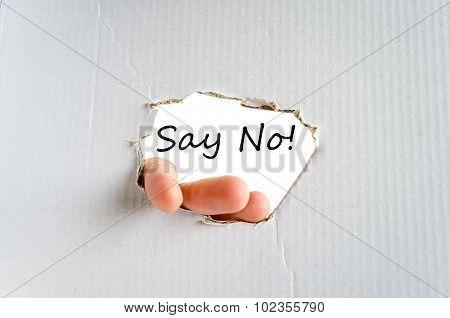 Say No Text Concept