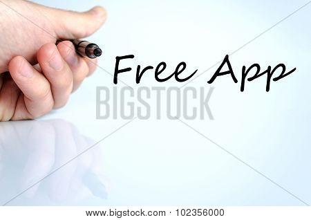 Free App Text Concept