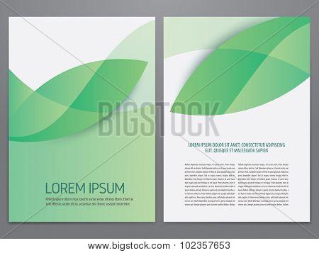 Green brochure, flyer, annual report, magazine template.