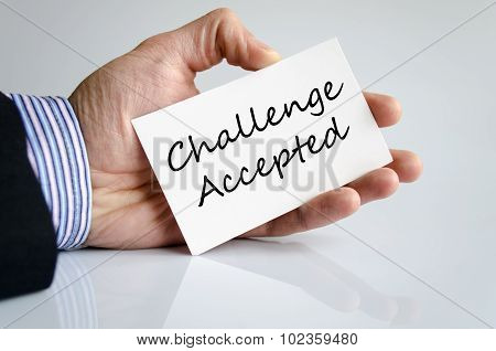 Challenge Accepted Text Concept