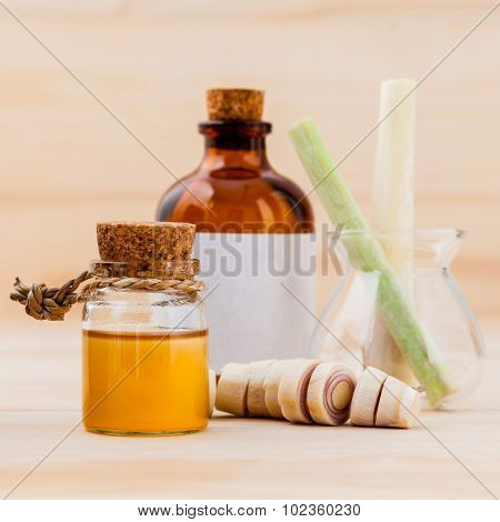 Natural Spa Ingredients Lemongrass Essential Oil For Alternative Medicine And Aromatherapy.