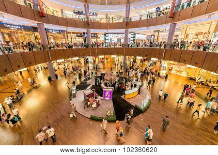 Dubai - AUGUST 7, 2014: Dubal Mall shopping mall on August 7 in Dubai, UAE. Dubai is the center of trade in Middle East