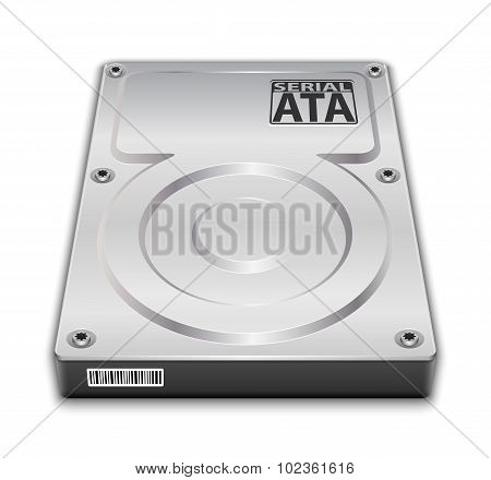 Hard Disk Drive Icon. Vector