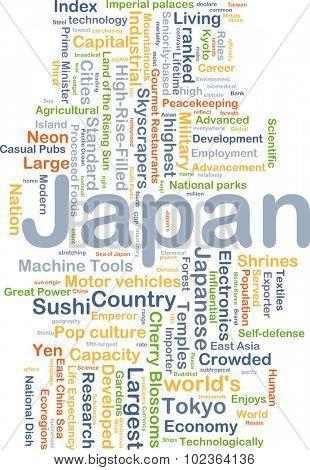 Background concept wordcloud illustration of Japan