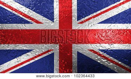 Flag of United Kingdom, Great Britain, British Flag painted on metal texture