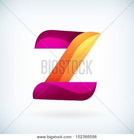 Modern Twisted Letter Z