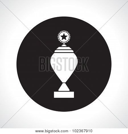 Vector flat white trophy