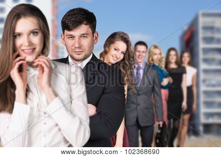 Business people on the street