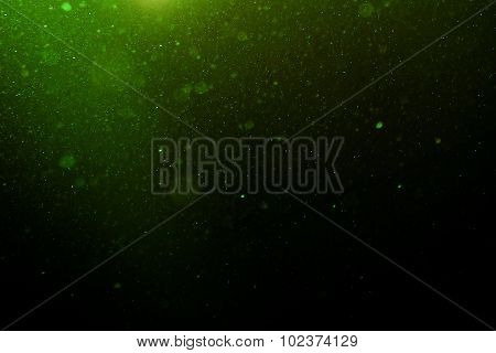 Abstract Light Green Background With Floating Dust