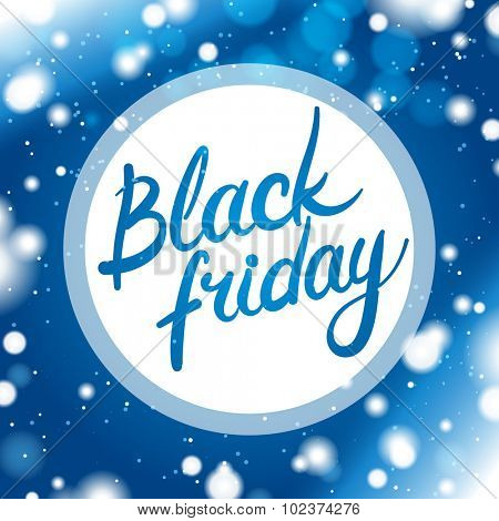 Black Friday Card With Blue Background
