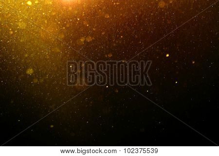 Abstract Gold Background With Floating Dust