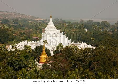 The White Pagoda Of Hsinbyume Paya Temple,