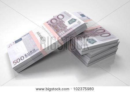 Four packets of 500 Euro bills