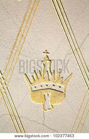 Wall Milan  In Italy Old   Church Concrete Yellow