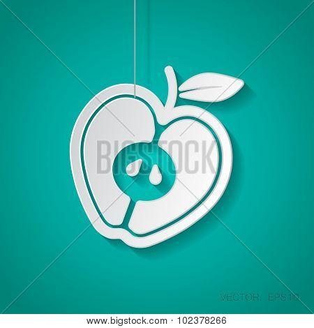 Vector apple icon. Eps10