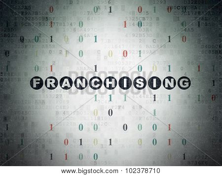 Finance concept: Franchising on Digital Paper background