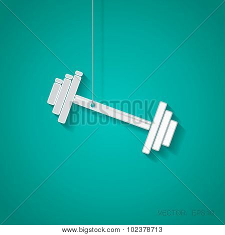 Vector dumbbell icon. Eps10