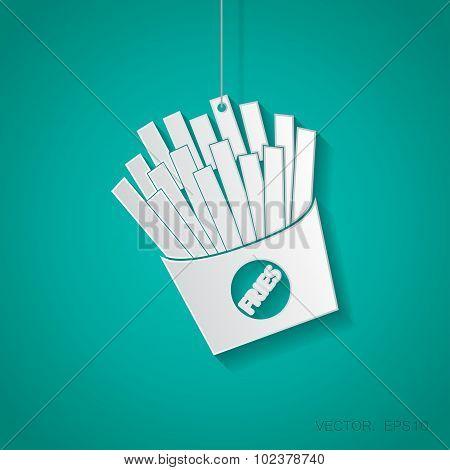 Vector fries icon. Eps10