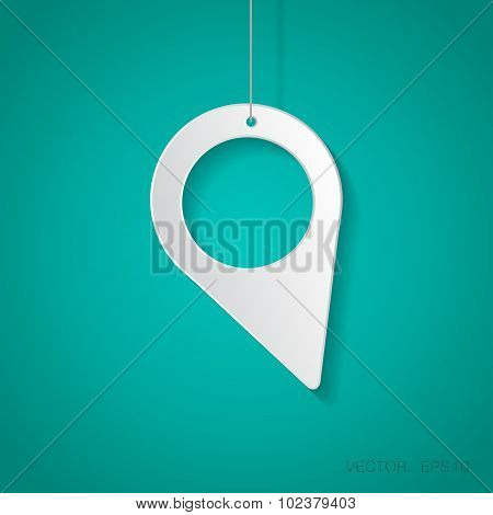 Vector navigation icon. Eps10