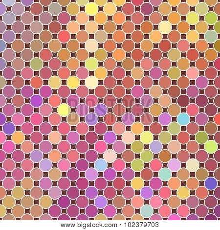Electronic background of pink dots with a white outline