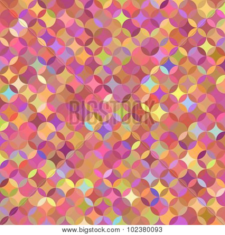 Bright multicolored pink pattern of circle segments