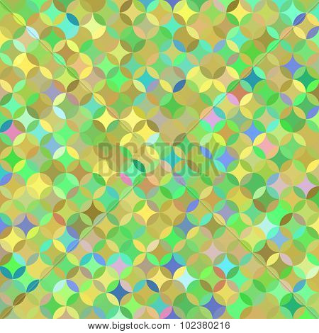 Bright multicolored green pattern of circle segments