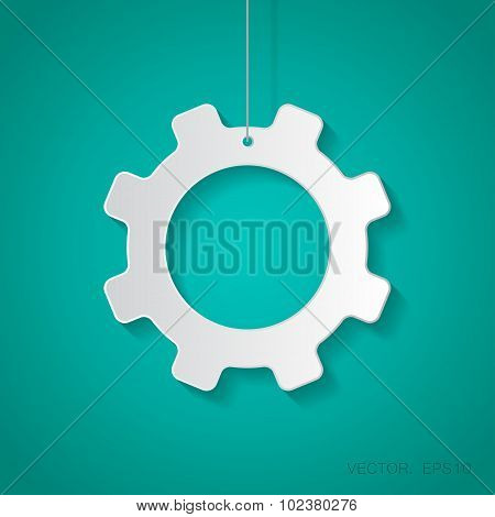 Vector cogwheel icon. Eps10