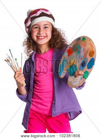 Girl with watercolor painting