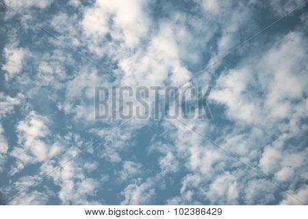 Fluffy cloudy sky