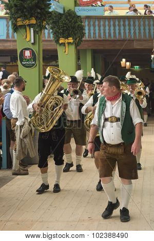 Marching Band In The Spatenbrau Tent