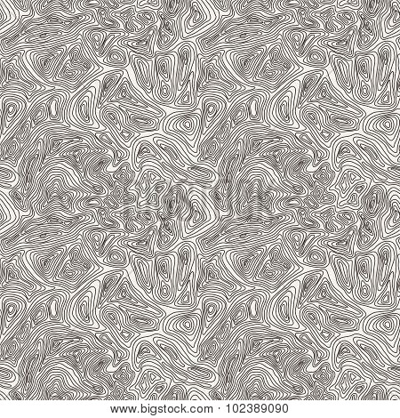 Seamless pattern of the curves manually drawn lines