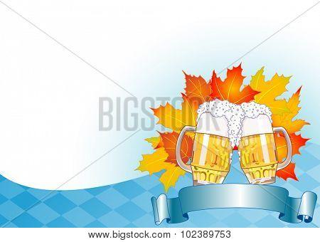 Oktoberfest Celebration Background with Copy space