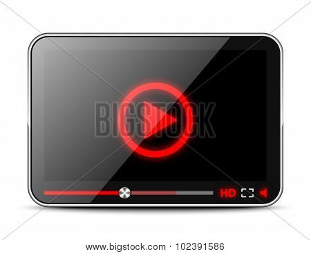 Media Player Interface Isolated On White Background