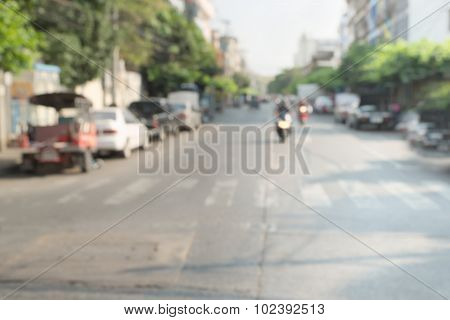Blurry street