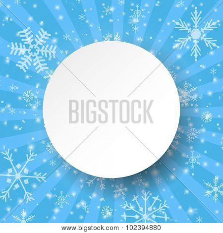 Abstract light blue christmas card. Christmas Snowflake on abstract background. Christmas card design. Christmas poster, t-shirt or web design with snowflake