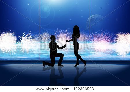 man makes a proposal to woman