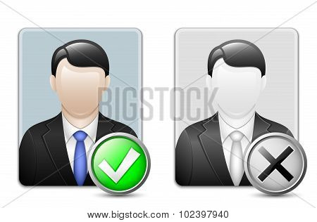 Male User Icons. Vector