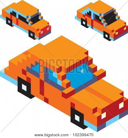 Vector Development of Pixel Car