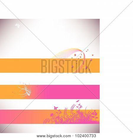 Floral grunge banner calendar